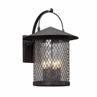 B5173 Troy Hand-Worked Iron Exterior Altamont 4Lt Wall Lantern Large with French Iron Finish