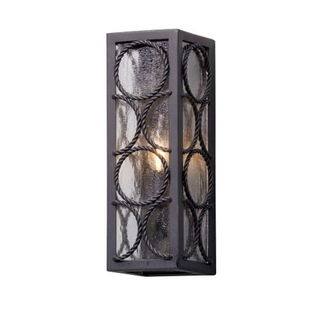 B5221 Troy Solid Aluminum Exterior Bacchus 1Lt Wall Lantern Small with Textured Bronze Finish