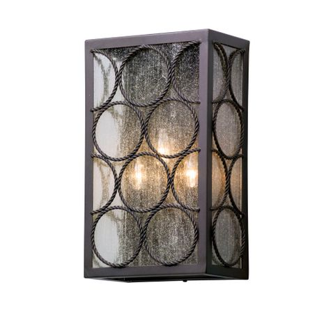 B5223 Troy Solid Aluminum Exterior Bacchus 3Lt Wall Lantern Large with Textured Bronze Finish