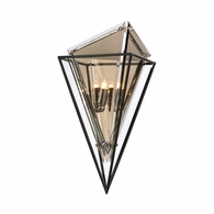 B5321 Troy Hand-Worked Iron Interior Epic 2Lt Wall Sconce with Forged Iron Finish