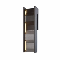 B6861 Troy Hand-Worked Iron Interior Fuze 1Lt Wall Sconce with Modern Bronze Finish
