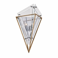 B7141 Troy Hand-Worked Iron Interior Epic 2Lt Wall Sconce with Gold Leaf Finish