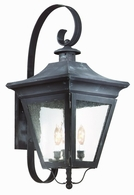 B8933NR Troy Solid Brass Exterior Oxford 3Lt Wall Lantern Large with Natural Rust Finish