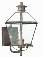 B8950CI Troy Solid Brass Exterior Montgomery 1Lt Wall Lantern Small with Charred Iron Finish