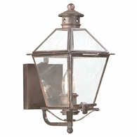 B8950NR Troy Solid Brass Exterior Montgomery 1Lt Wall Lantern Small with Natural Rust Finish