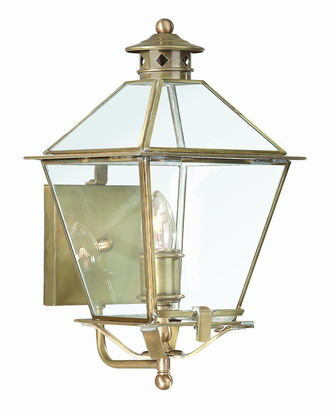 B8951NR Troy Solid Brass Exterior Montgomery 1Lt Wall Lantern Medium with Natural Rust Finish