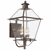B8957CI Troy Solid Brass Exterior Montgomery 4Lt Wall Lantern Extra Large with Charred Iron Finish