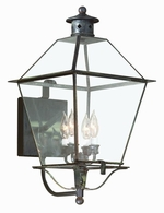 B8957NR Troy Solid Brass Exterior Montgomery 4Lt Wall Lantern Extra Large with Natural Rust Finish