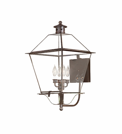 B8960NAB Troy Solid Brass Exterior Montgomery 4Lt Wall Lantern Extra Extra Large
