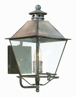 B9131CI Troy Solid Brass Exterior Montgomery 1Lt Wall Lantern Medium with Charred Iron Finish