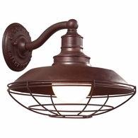 B9271OR Troy Hand-Forged Iron Exterior Circa 1910 1Lt Wall Down Light Large with Old Rust Finish