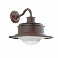 B9390OR Troy Hand-Forged Iron Exterior South Street 1Lt Wall Downlight Small with Old Rust Finish