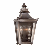 B9492EB Troy Solid Brass Exterior Dorchester 2Lt Pocket Lantern Small with English Bronze Finish