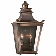 B9494EB Troy Solid Brass Exterior Dorchester 2Lt Pocket Lantern Medium with English Bronze Finish