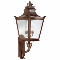 B9495EB Troy Solid Brass Exterior Dorchester 4Lt Wall Lantern Large with English Bronze Finish
