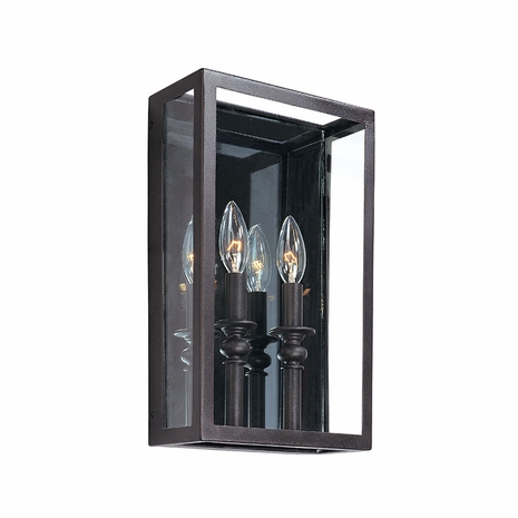 B9992DB Troy Hand-Worked Iron Interior Morgan 2Lt Wall Sconce with Deep Bronze Finish