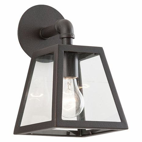 BCD3431 Troy Hand-Worked Iron Exterior Amherst 1Lt Wall Lantern Small with River Valley Rust Finish