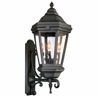 BCD6834MB Troy Cast Aluminum Exterior Verona 3Lt Wall Lantern Extra Large with Matte Black Finish