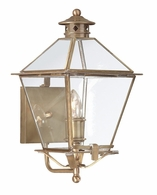 BCD8951NAB Troy Solid Brass Exterior Montgomery 1Lt Wall Lantern Medium with Natural Aged Brass Finish