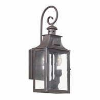 BCD9001OBZ Troy Hand-Forged Iron Exterior Newton 2Lt Wall Lantern Small with Old Bronze Finish