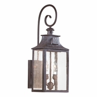 BCD9002OBZ Troy Hand-Forged Iron Exterior Newton 2Lt Wall Lantern Medium with Old Bronze Finish