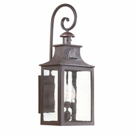 BCD9005OBZ Troy Hand-Forged Iron Exterior Newton 3Lt Wall Lantern Large with Old Bronze Finish