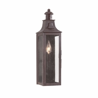 BCD9007OBZ Troy Hand-Forged Iron Exterior Newton 1Lt Wall Pocket Lantern Small with Old Bronze Finish