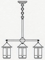 BCH-6-4 Arroyo Craftsman Six-inch Berkeley Four-Light Chandelier