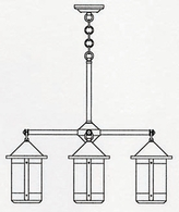 BCH-7-4 Arroyo Craftsman Seven-inch Berkeley Four-Light Chandelier
