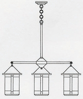BCH-8-4 Arroyo Craftsman Eight-inch Berkeley Four-Light Chandelier