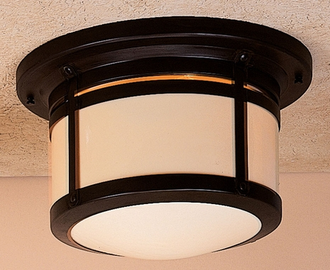 "BCM-12 Arroyo Craftsman 12"" Berkeley Flush Ceiling Mount"