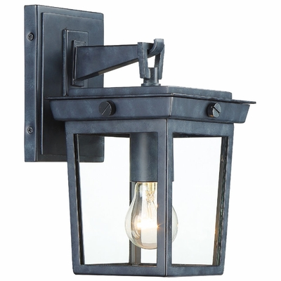 BEL-A8061-GE Crystorama Belmont 1 Light Graphite Outdoor Wall Mount
