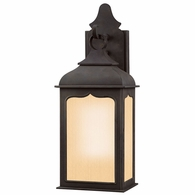 BF2010CI Troy Hand-Worked Iron Exterior Henry Street 1Lt Pocket Lantern Fluorescent Small with Colonial Iron Finish