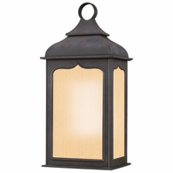 BF2011CI Troy Hand-Worked Iron Exterior Henry Street 1Lt Wall Lantern Fluorescent Small with Colonial Iron Finish