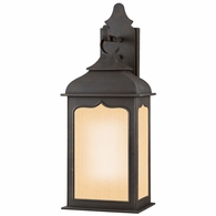 BF2012CI Troy Hand-Worked Iron Exterior Henry Street 1Lt Wall Lantern Fluorescent Medium with Colonial Iron Finish