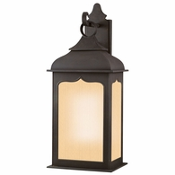 BF2013CI Troy Hand-Worked Iron Exterior Henry Street 1Lt Wall Lantern Fluorescent Large with Colonial Iron Finish