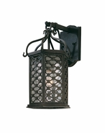 BF2372OI Troy Hand-Worked Iron Exterior Los Olivos 1Lt Wall Lantern Fluorescent Small with Old Iron Finish