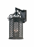 BF2373OI Troy Hand-Worked Iron Exterior Los Olivos 1Lt Wall Lantern Fluorescent Medium with Old Iron Finish