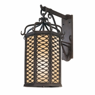 BF2374OI Troy Hand-Worked Iron Exterior Los Olivos 1Lt Wall Lantern Fluorescent Large with Old Iron Finish