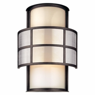 BF2733 Troy Hand-Worked Iron Exterior Discus 2Lt Wall Lantern Fl Large with Graphite Finish