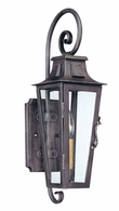 BF2961 Troy Hand-Forged Iron Exterior Parisian Square 1Lt Wall Lantrern Fluorescent Small with Aged Pewter Finish