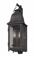 BF3211 Troy Hand-Worked Iron Exterior Larchmont 1Lt Wall Lantern Fluorescent Small with Aged Pewter Finish