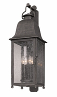 BF3213 Troy Hand-Worked Iron Exterior Larchmont 1Lt Wall Lantern Fluorescent Large with Aged Pewter Finish