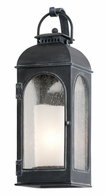 BF3281 Troy Cast Aluminum Exterior Derby 1Lt Wall Lantern Small with Antique Iron Finish