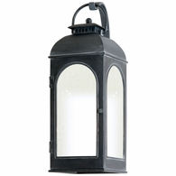 BF3282 Troy Cast Aluminum Exterior Derby 1Lt Wall Lantern Fluorescent Medium with Antique Iron Finish