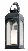 BF3283 Troy Cast Aluminum Exterior Derby 1Lt Wall Lantern Large with Antique Iron Finish