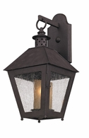BF3292 Troy Hand-Forged Iron Exterior Sagamore 1Lt Wall Lantern Flourescent Small with Centennial Rust Finish