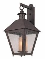 BF3294 Troy Hand-Forged Iron Exterior Sagamore 1Lt Wall Lantern Flourescent Large with Centennial Rust Finish