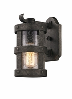 BF3311 Troy Hand-Worked Iron Exterior Barbosa 1Lt Wall Lantern Small with Barbosa Bronze Finish