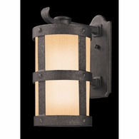 BF3313 Troy Hand-Worked Iron Exterior Barbosa 1Lt Wall Lantern Large with Barbosa Bronze Finish